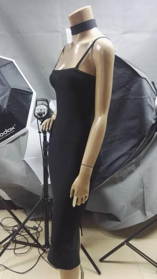 Backless Vestito Lunghezza Fasciatura Donne Vestiti Il Aderenti Partito Nero Sera Da Celebrità Ginocchio Del 2017 Di Cinturino Sexy Q37 Dalla w00xqSIO