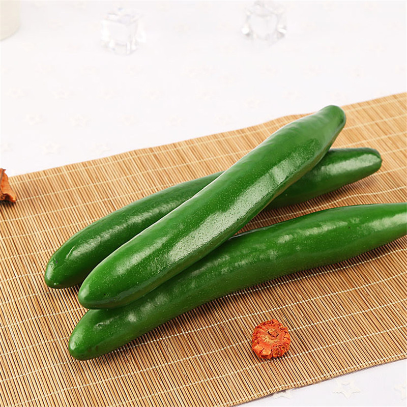 3pcs Creative Artificial Vegetables PU Artificial Cucumber Carrots Fake Decorative Cute Dining Table Decor Simulation Cucumber in Artificial Foods Vegetables from Home Garden