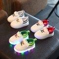 Nova criança sapato de bebê menina sapato brilhante de luz led para crianças do bebê do menino da menina da criança da princesa primavera calçado shoes com luz