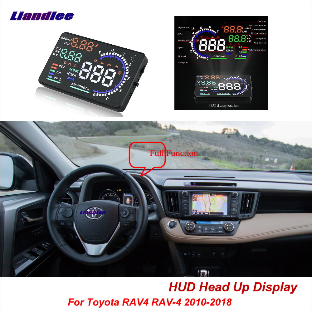 Liandlee Full Function HUD Car Head Up Display For Toyota RAV4 RAV-4 2010-2018 Safe Driving Screen OBD Data Projector Windshield