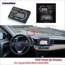цена на Liandlee Full Function HUD Car Head Up Display For Toyota RAV4 RAV-4 2010-2018 Safe Driving Screen OBD Data Projector Windshield