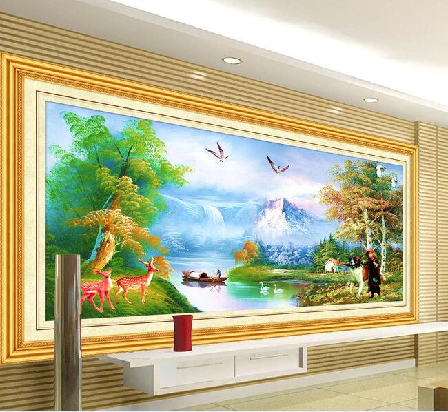 3d Wallpaper Custom Mural Non Woven Wall Sticker Landscape