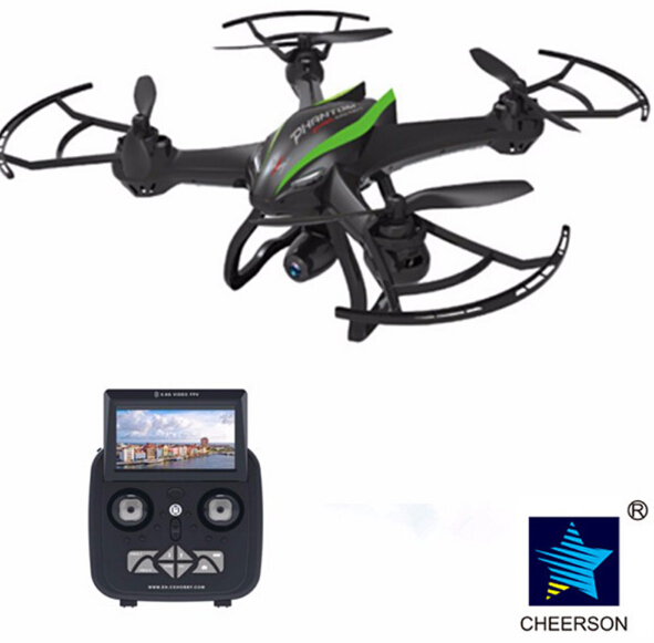Cheerson CX-35 2.4GHz 4CH 6Axis UAV 2MP Camera 5.8G FPV Video RC aircraft with 2G SD card and Reader