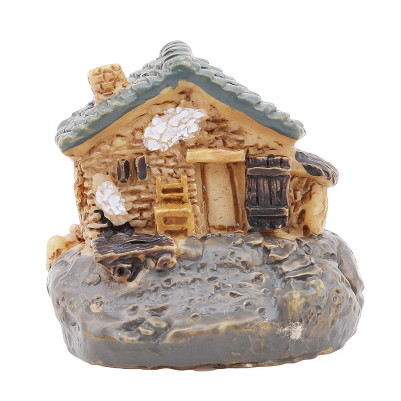 Popular New Hot Sell 8 Styles Stone House Fairy Garden Miniature Craft Micro Cottage Landscape Decoration For DIY Resin Crafts