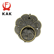 KAK 10pcs Classical Bronze Tone Quincunx Drawer Cabinet Desk Door Pull Box Handle Knobs Furniture Handles Hardware With Screws(China)