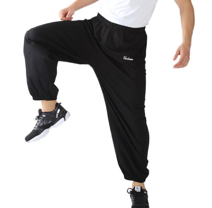 2019 Men Male Fashion Joggers Sweat Pants Tide Loose Home Trousers Leisure Slacks Large Size XXXL Men's Thin Bottoms