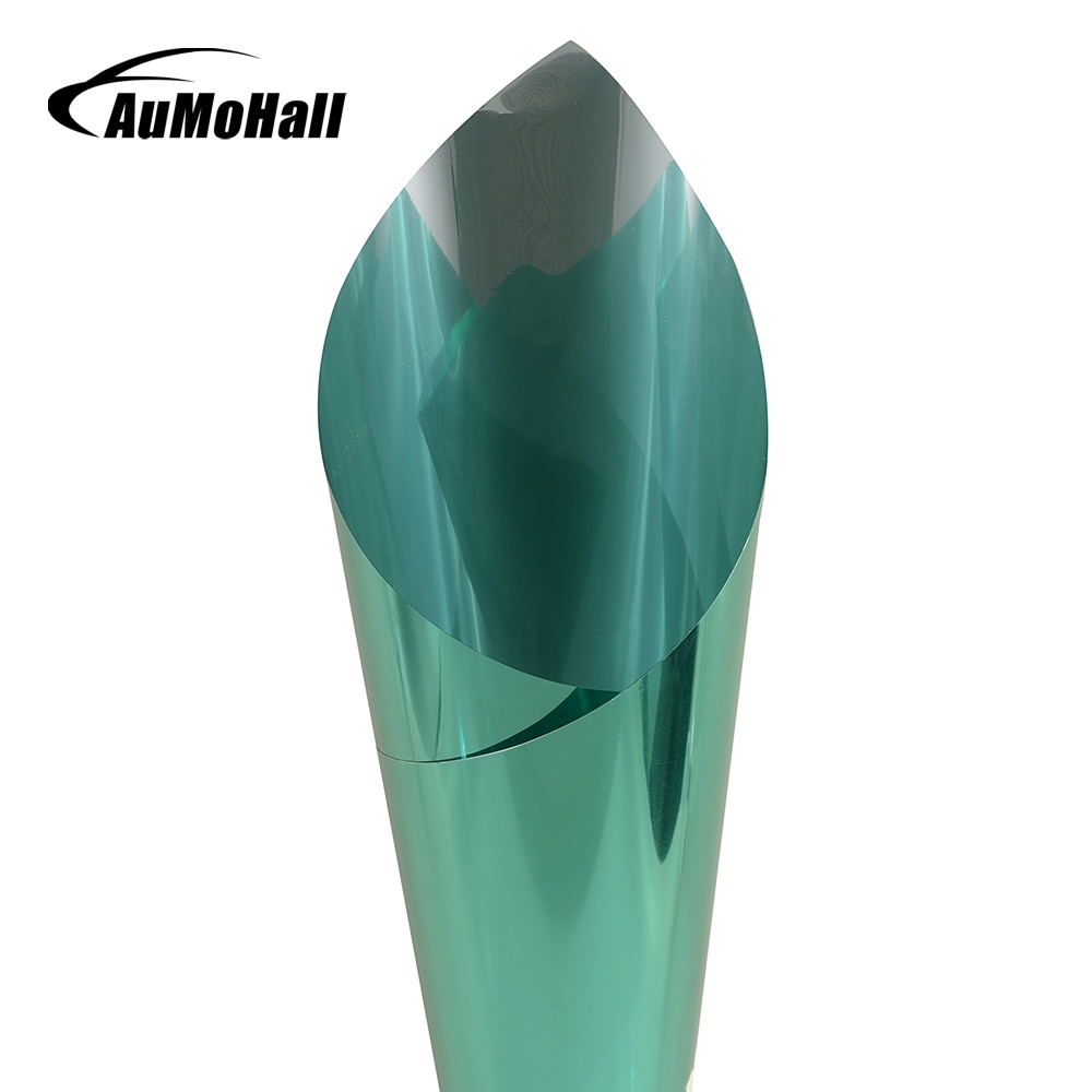AuMoHall 0.5m*3m Green Car Side Window Foils Solar Protection Auto Window Tinting Film