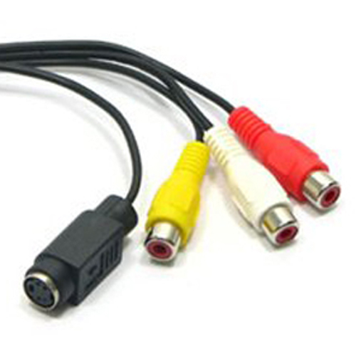 VGA adapter to TV S-Video RCA output video cable for PC