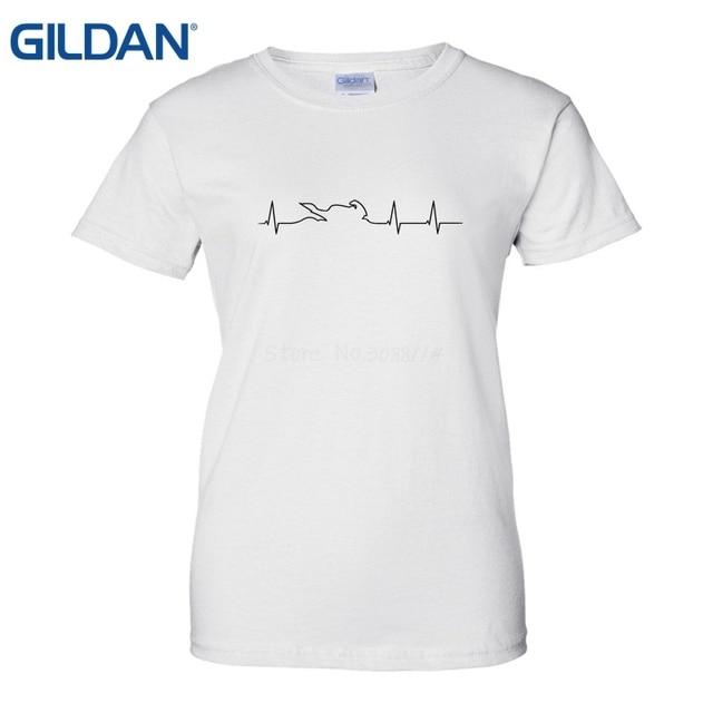 2163ad4f Motorcycling Heartbeat Ecg T Shirts Buy T Shirts Online Tees Brand Clothing Funny  T-Shirt Summer Fashion Women T Shirt