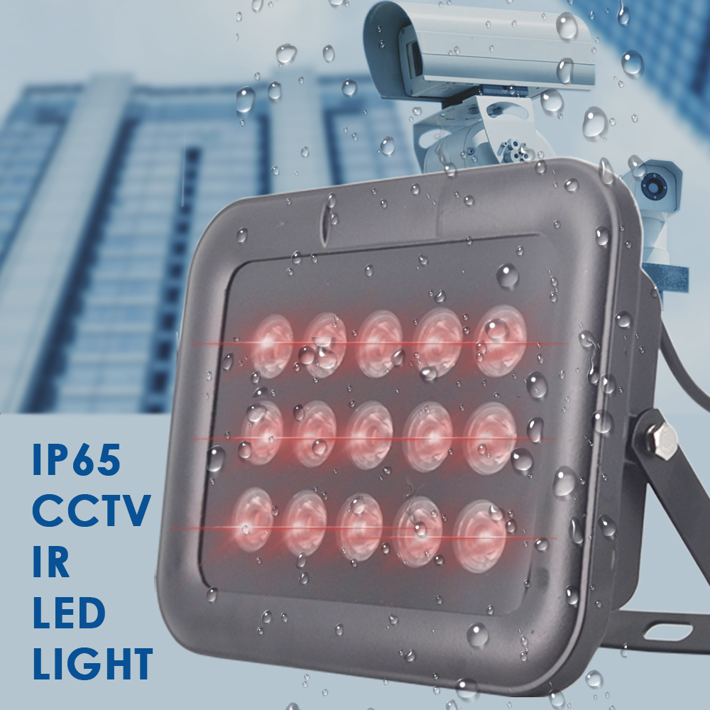 Illuminateur infrarouge IR IP65 80 M CCTV lumière LED lampe led IR Vision nocturne lumières de remplissage extérieur étanche pour caméra de Surveillance
