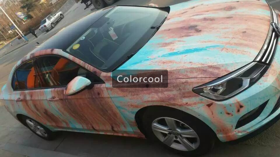 Iron rust vinyl wrap film for car wrap rust style wrapping colored car full body wrap