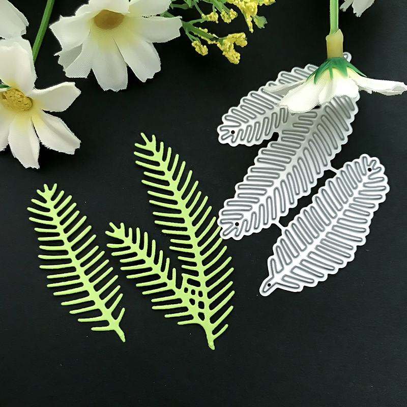 JC Metal Cutting Dies Scrapbooking Stencil 2pcs Leaves DIY Album Embossing Folder Cards Paper Photo Template Background Craft in Cutting Dies from Home Garden