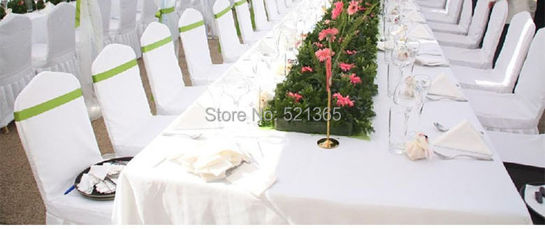 Brilliant Us 295 0 Wholesale 100Pcs Lot Universal White Wedding Party Chair Covers For Weddings Banquet Folding Hotel Decoration Decor In Chair Cover From Alphanode Cool Chair Designs And Ideas Alphanodeonline