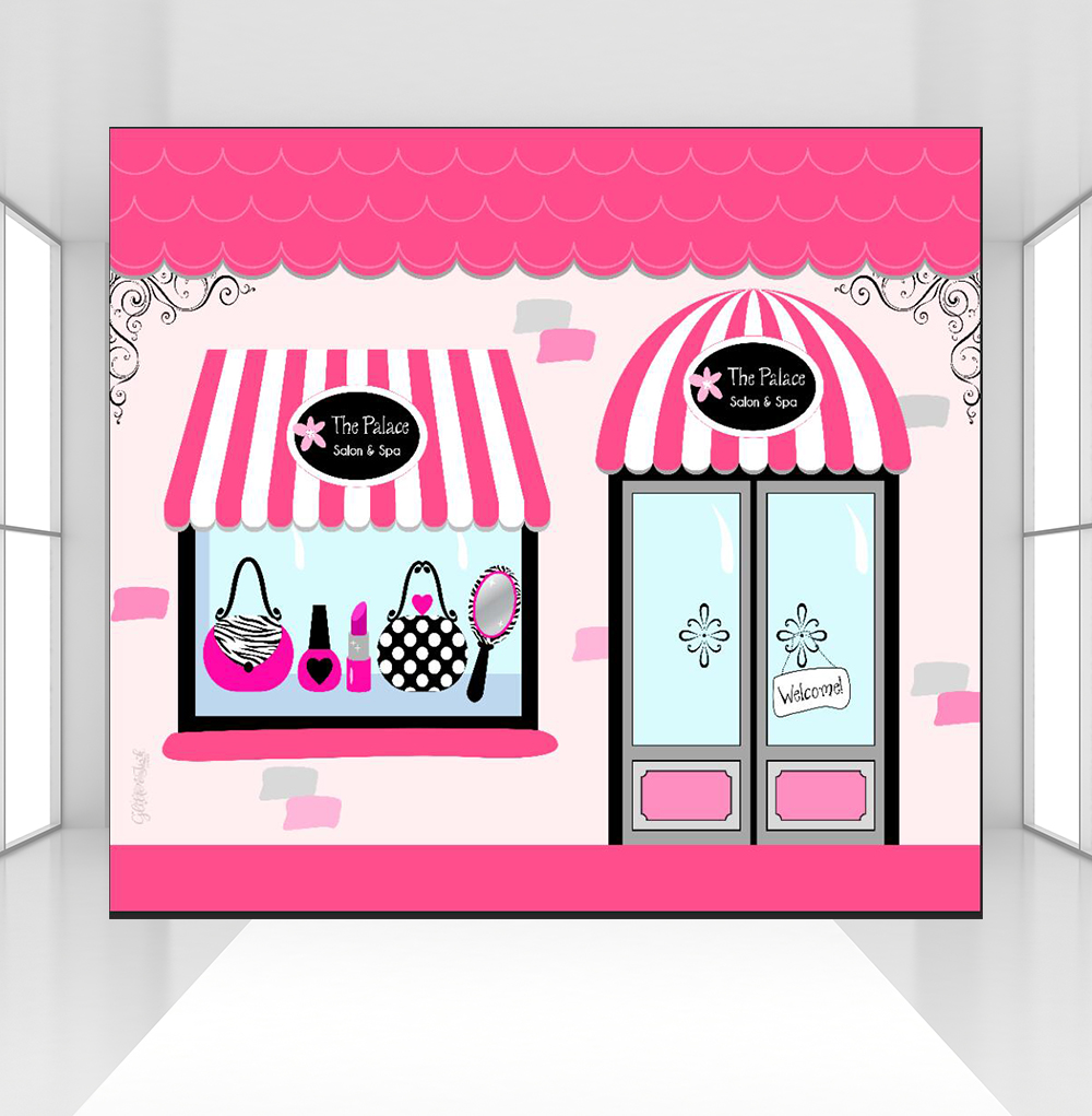 Photographie toile de fond bienvenue à rose magasin fond personnalisé Spa fête Portrait Photo Shoot Studio accessoires CZ-132