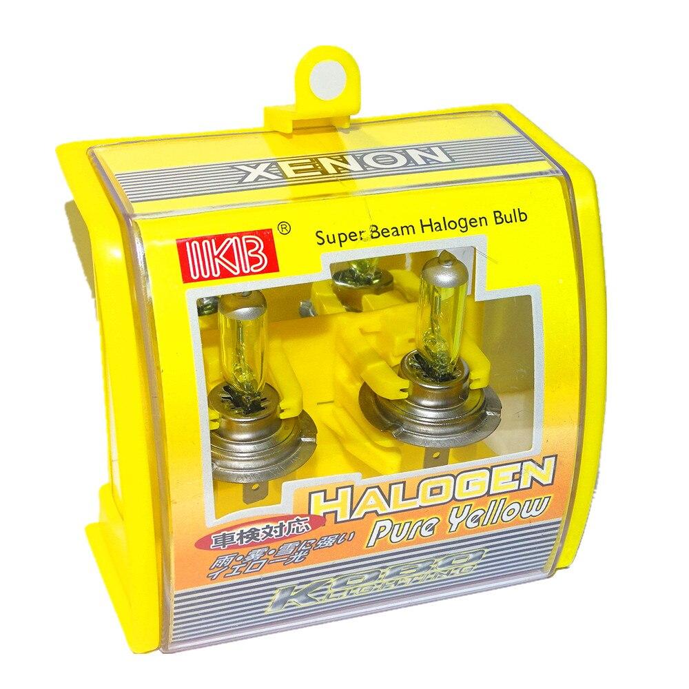 10 pièces H7 DC 12 V 100 W 3000 K jaune Super lumineux xénon voiture phares ampoules Auto phare phare antibrouillard ampoule Automobile Source lumineuse
