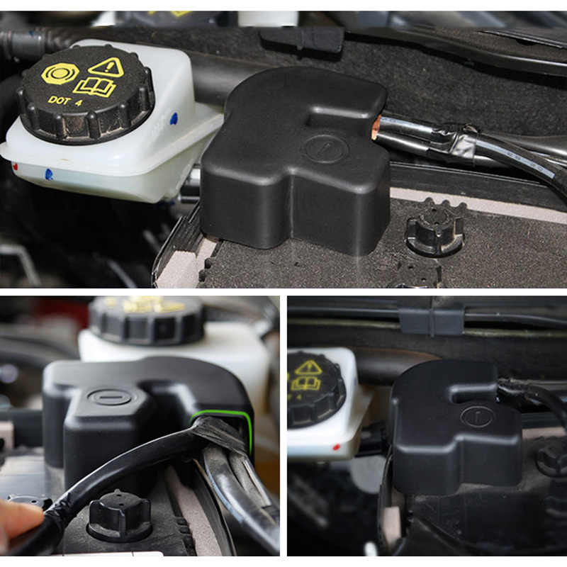 Battery Batteries Negative Pole Clamp Terminal Protection Cover Frame Tray Cap For Mazda 2 3 6