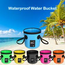 12L / 20L Waterproof Water Bucket Outdoor Fishing Bucket Folding Water Container Camping Picnic Washing Cleaning Fishing Tool