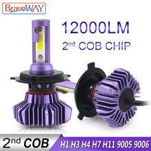 BraveWay LED Bulb for Auto Led Ice Bulb H4 H7 H11 Led Headlight 9005 9006 hb3 hb4 Headlamp 12000LM 6500K 80W 12V Car Light(LED)(China)