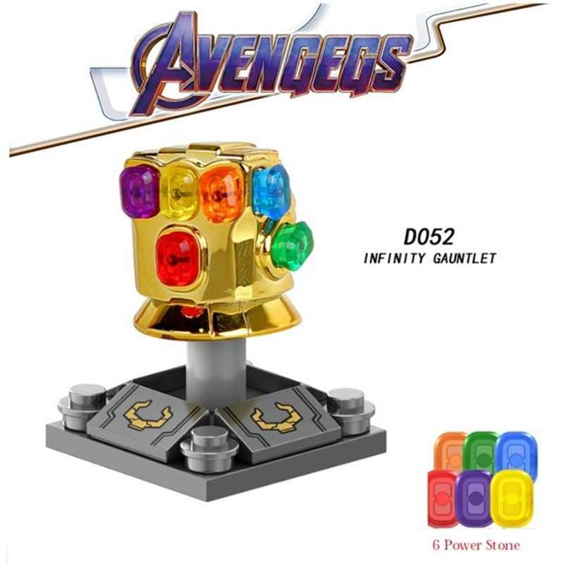 Legoed Avengers 4 Endgame Thanos Infinity Gauntlet Iron Man Spiderman Marvel Building Blocks ตัวเลขการกระทำเด็กของขวัญของเล่น
