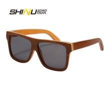 New Designer Skateboard Wood Sunglasses Vintage Men Wooden Eyewear UV400 Protection Big Square Sun Glasses Gafas De Sol 68013