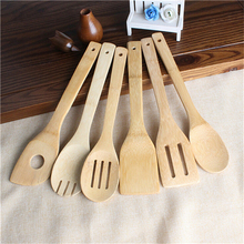 6 Pcs/Set Mixing Set Bamboo Spoon Spatula Kitchen Utensil Wooden Cooking Tool Kitchen Tools