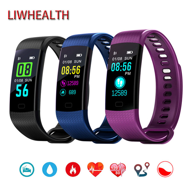Cheap Color Bluetooth Smart Watch Men Women Child Band HR BP O2 ... 73aad8bed278