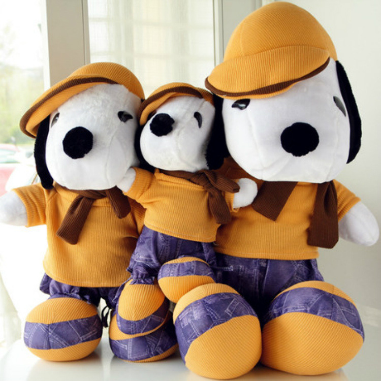 Kawaii Snoopy Plush Doll Toys Animals And Snoopy Stuffed Doll Cute Cap Dog Doll Plush Toys For Children Kids Birthday Gift LOl