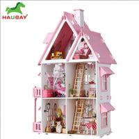 DIY Doll House Model Wood Dolls house Furniture Toys For Children Christmas Gift model Casa cabinet Shopping On Sale
