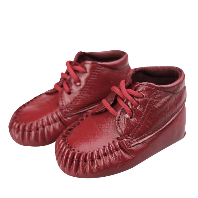 Top layer cow leather Infant hand sewn leather shoes With lace design Tendon soles Protect the baby's feet For spring or fall
