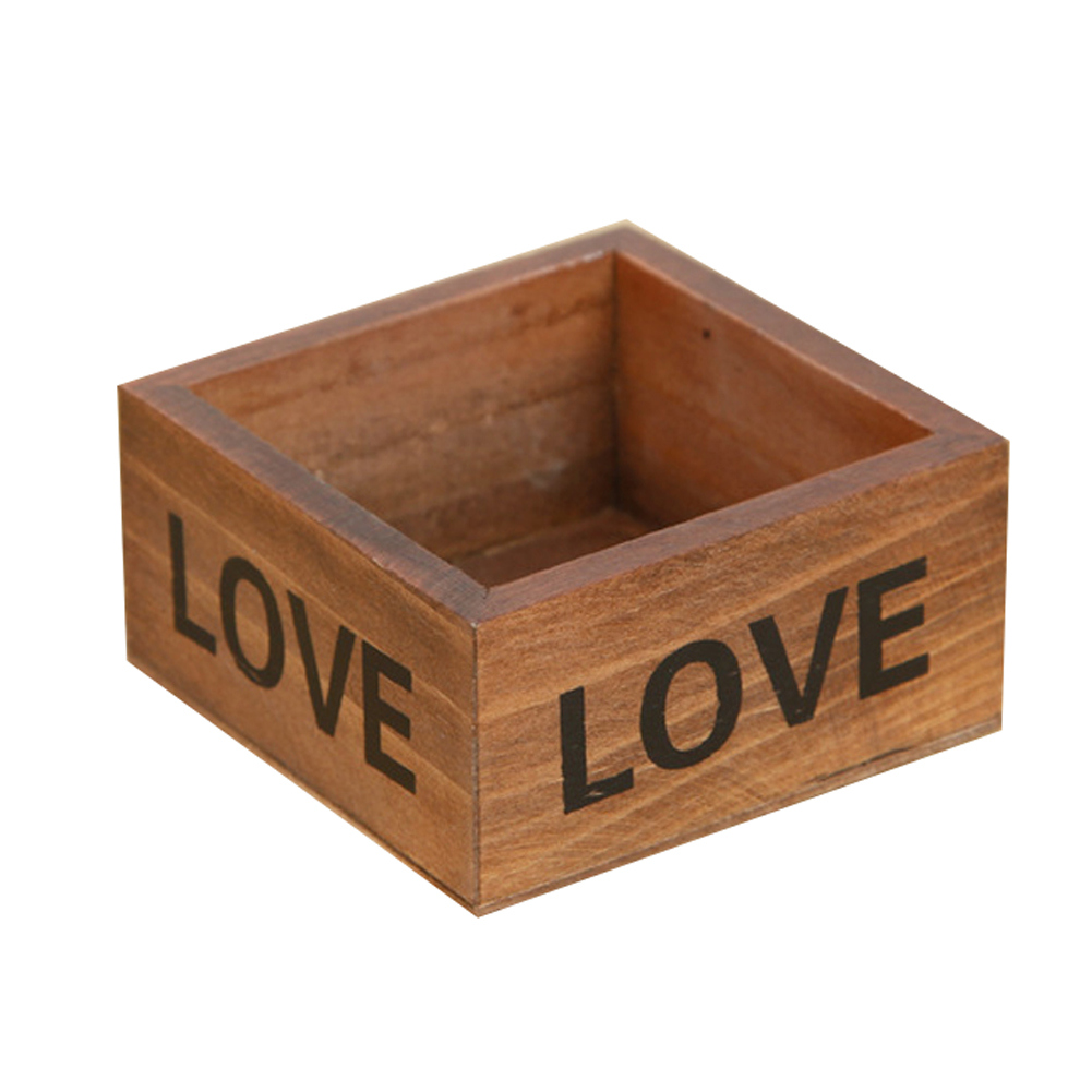 Rustic Natural Wooden Succulent Plant Flower Bed Pot Box ...
