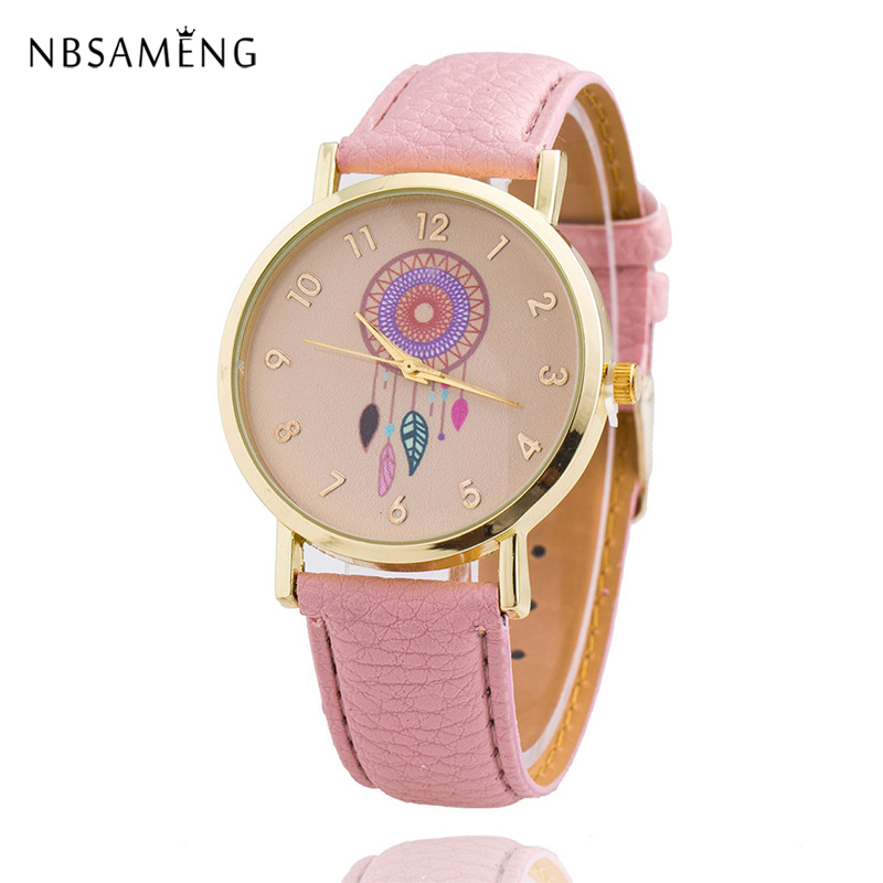 2017 Brand Women Watch Dreamcatcher Wristwatch Casual Watches Leather Ladies New Arrival Quartz Clock Relogio Feminino LZ4097