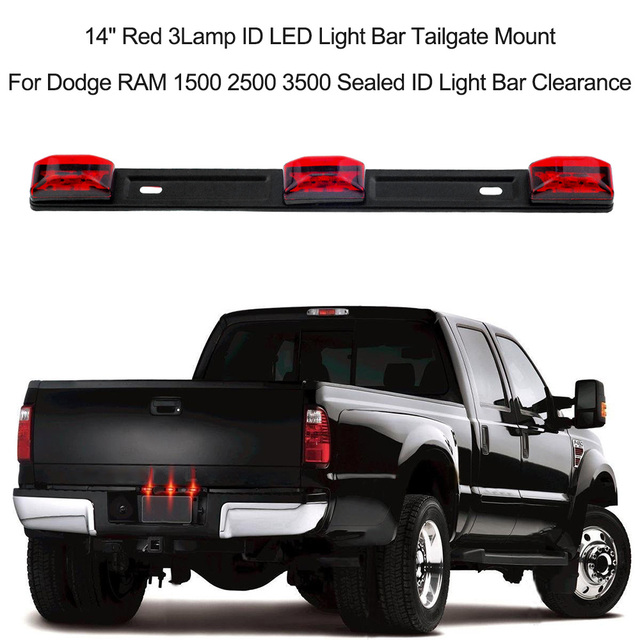 Aliexpress buy 14 red 3lamp id led light bar tailgate mount 14 red 3lamp id led light bar tailgate mount for dodge ram 1500 2500 3500 aloadofball Gallery