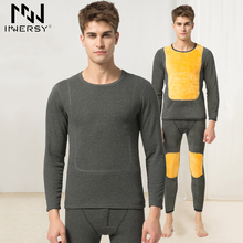 Innersy Underwear Winter Mens Warm Thermal Underwear Add wool Long Johns Thermal Underwear Sets Thick Plus