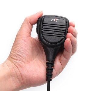 Image 3 - TYT MD 380 2 פין PTT מרחוק אטים לגשם כתף רמקול מיקרופון עבור TYT MD 380 MD 390 TH UV8000D/E ווקי טוקי MD 380G רדיו חם