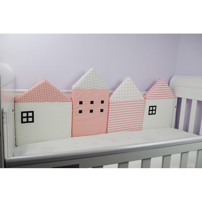 baby-4-pcs-set-Myudi-Baby-bed-bumper-little-house-pattern-crib-protection-infant-Cot-Nursery (5)