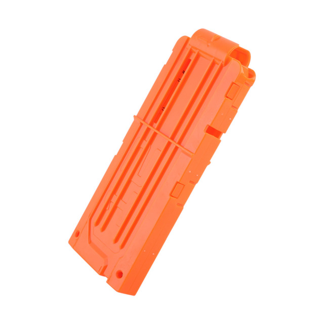 1PCS 12 Reload Clip Magazines Round Darts Replacement Plastic Magazines Toy Gun Soft Bullet Clip Orange For Nerf