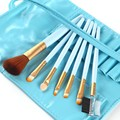 2016 Professional Daily Foundation Eye Shadow Eyebrow Make Up Brushes Contour Bag 7 Pcs
