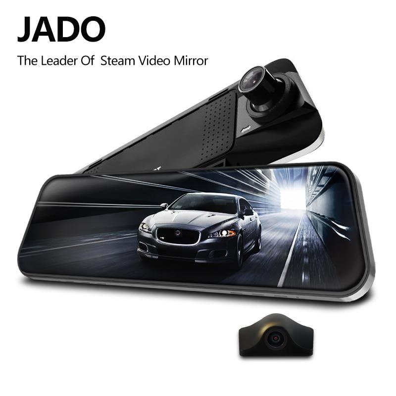JADO D230 Stream RearView Mirror Dvr dash font b Camera b font avtoregistrator 10 IPS Touch