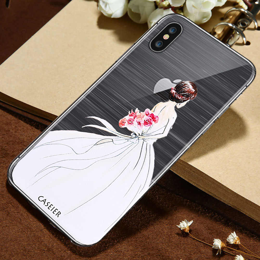 4eab9ae2a1d CASEIER 3D Emboss Phone Case For iPhone X 7 Soft TPU Silicone Cases For  iPhone 6 6s 8 Plus Umbrella Girl Sexy Funda Capinha