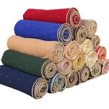 ใหม่ผู้หญิงฟองชีฟองเพชรGlitterผ้าพันคอHijabยาวธรรมดาแฟชั่นHead Wrapsมุสลิมผ้าคลุมไหล่19สี10ชิ้น/ล็อต