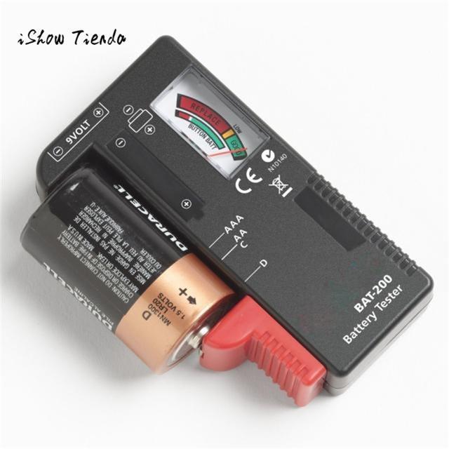 ISHOWTIENDA Indicatore Della Batteria Tester Cellulare AA AAA C/Pulsante D 9 V V