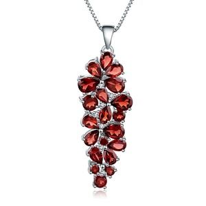 Image 5 - GEMS BALLET collar con colgante de plata de ley 925 y Gema de granate roja, joyería fina, Estilo Vintage, boda