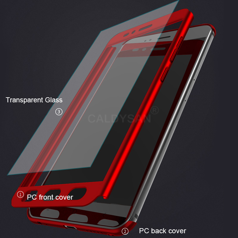 360 Full Protective Case For Xiaomi Mi 8 SE 6X 5X Phone Case Glass Cover For Xiaomi MI A1 A2 Lite Luxury Shockproof Case Cover