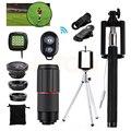 15in1 Lentes Zoom Telefoto 8x Telescope Fisheye lente Grande Angular Macro Para lentes de telefonia móvel para iphone 7 6 5 4 s xiaomi redmi