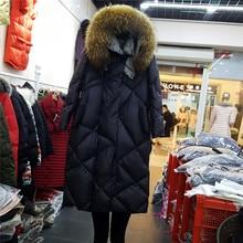 2017 Winter Jacket Women X-long White Duck Down Jacket Women Hooded Outerwear Elegant Warm Coat Women Parka High Quality