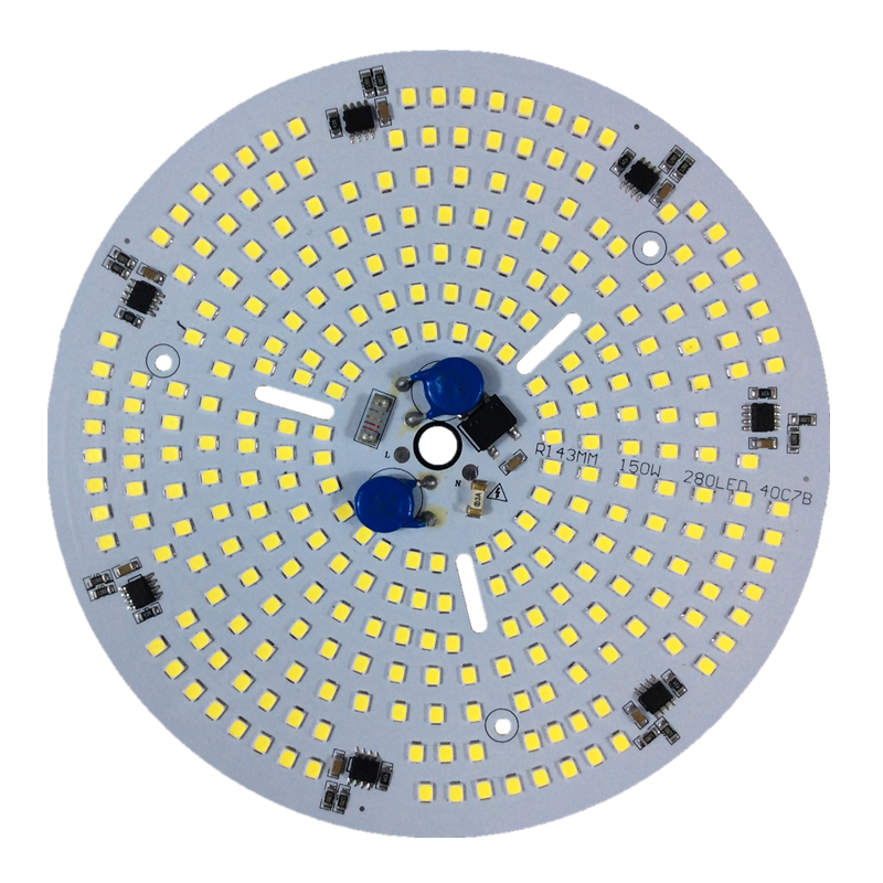 KINLAMS LED High Bay Light AC220V 150W-modul SMD2835 Ljuspärlor Smart IC för LED Takbrytningslampa Industriell ljus för DIY