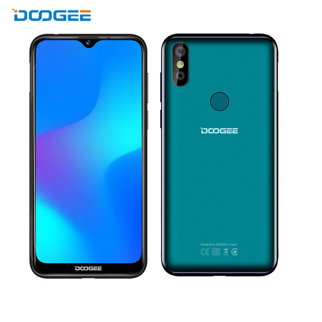 """Doogee Y8 Smartphone 6.1""""FHD 19:9 Display 3400mAh MTK6739 Quad Core 3GB RAM 16GB ROM Android 9.0 4G LTE Mobile Phone"""
