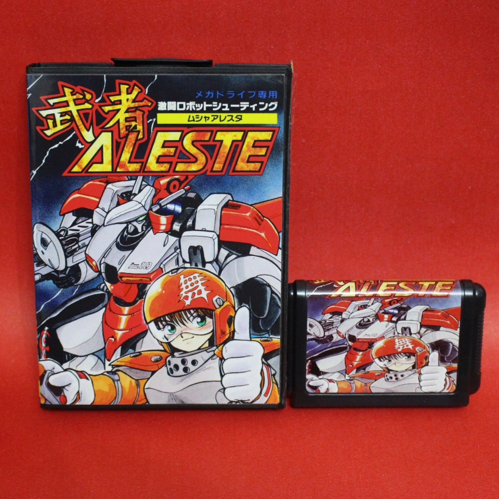 Aleste 16 bit MD card with Retail box for Sega MegaDrive Video Game console system