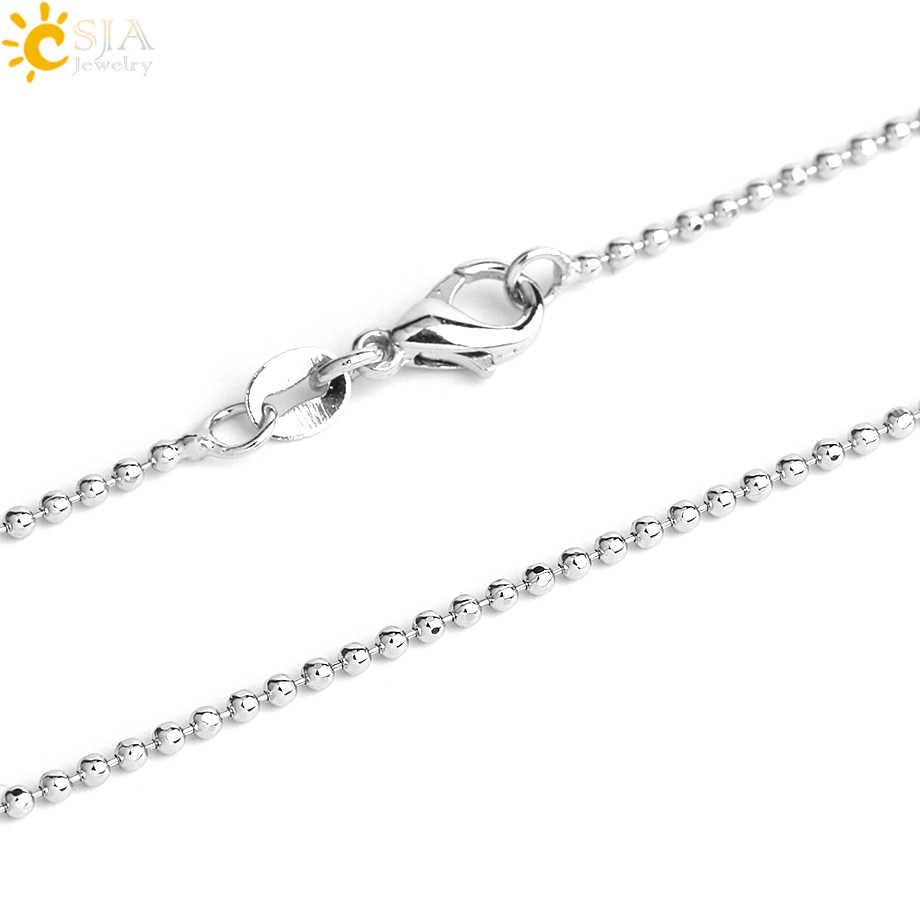 CSJA gorąca sprzedaż jabłko naturalny kamień wisiorek kwarcowy koralik wisiorki z kryształami naszyjnik moda biżuteria dla kobiet dziewczyn uroczy prezent G046