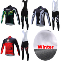 TELEYI Men's Winter Thermal Fleece Cycling Clothing China Pro Team Mountain Bike Jersey Bicycle Clothing MTB Jacket Maillot Wear